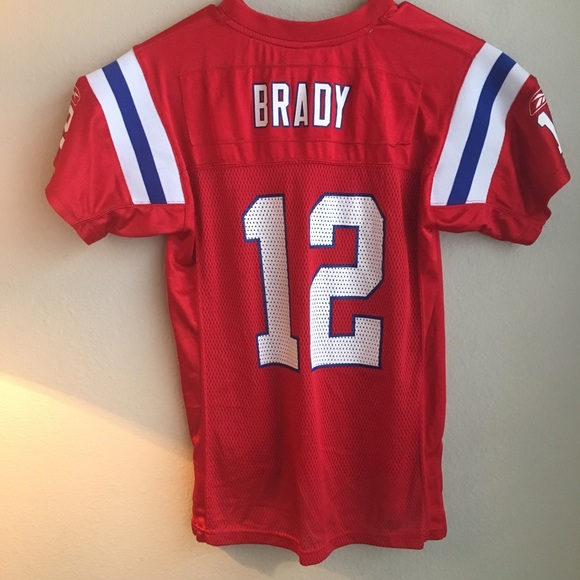 separation shoes c63cc 4309c tom brady red throwback jersey youth